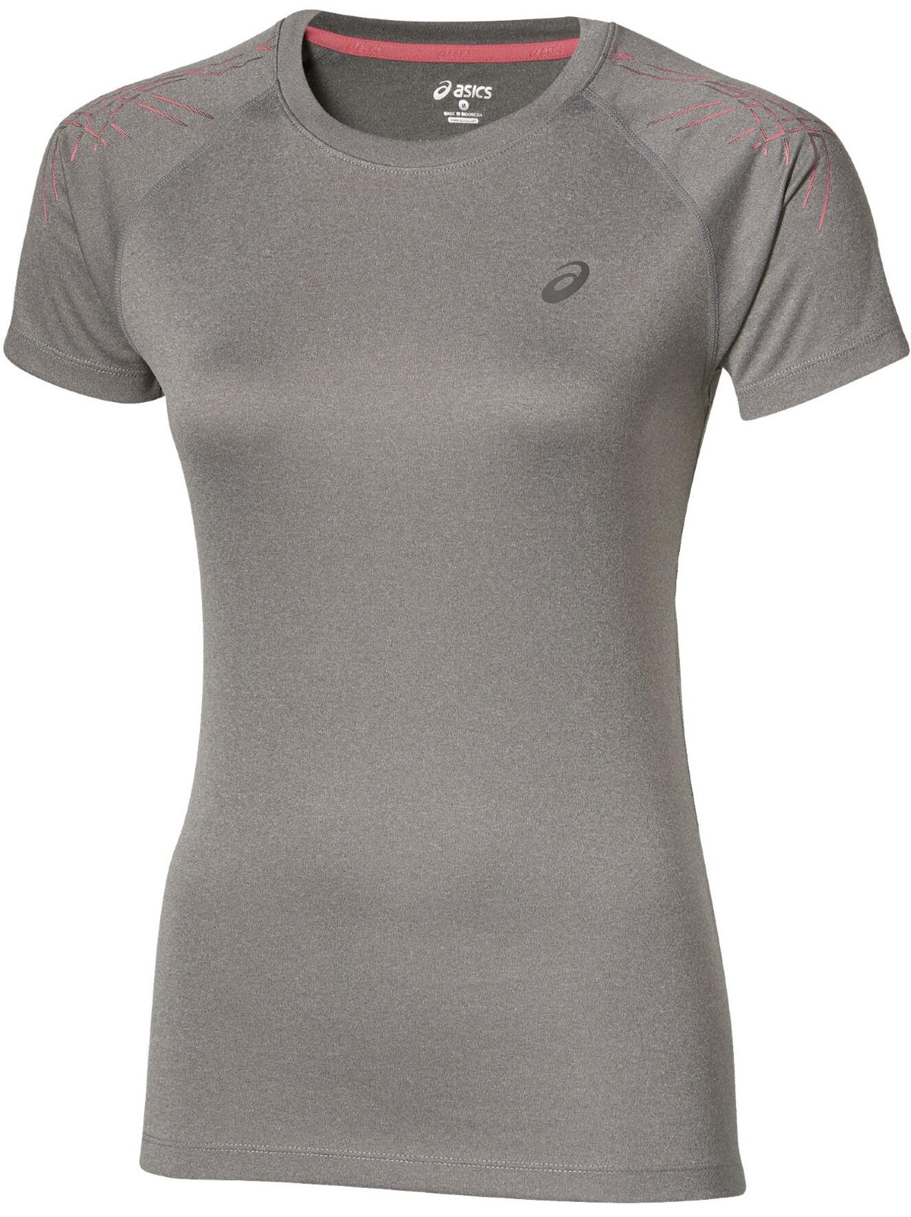 1a9c1143ede asics Stripe Hardloopshirt korte mouwen Dames grijs I Online op ...